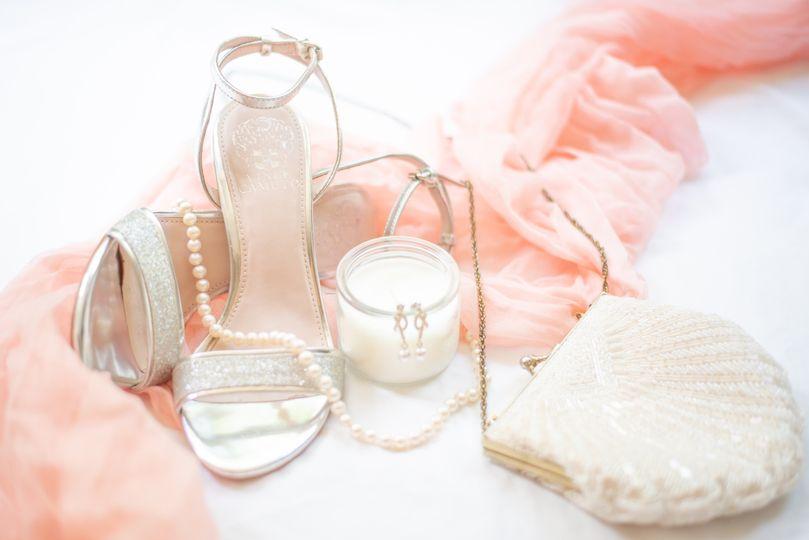 Classic pink wedding details