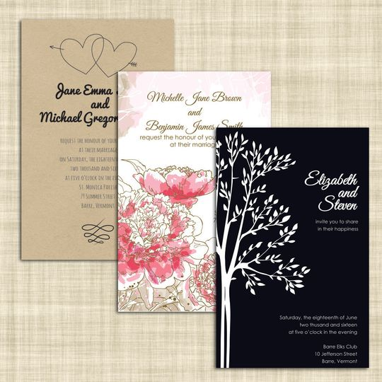 CW Print + Design (formerly Copy World) - Invitations - Barre, VT ...