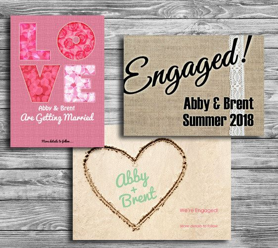 CW Print + Design can design and print your engagement announcements.