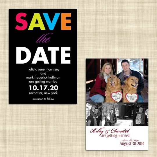 CW Print + Design can design and print your Save-the-Date cards. We even do Save-the-Date magnets!