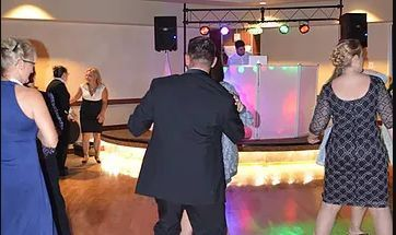 Couple dancing the night away.