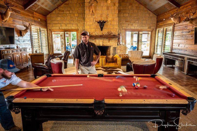 Lobby: pool table