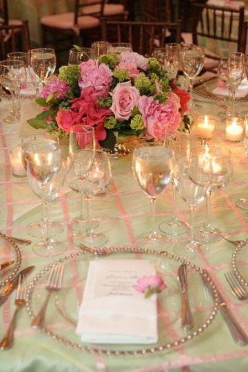 Pink themed flower arrangement
