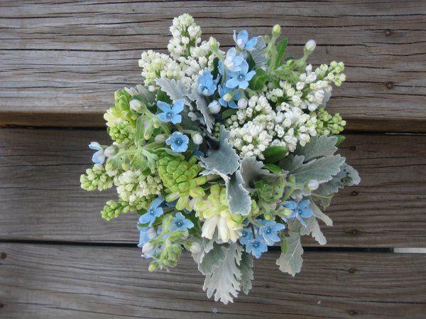 Blue themed bouquet