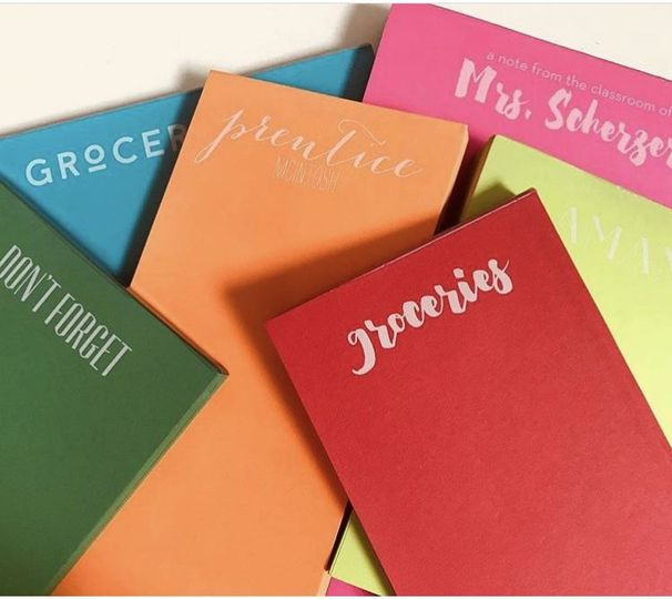 Vibrant note pads