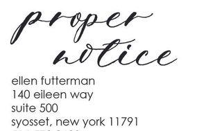 proper notice