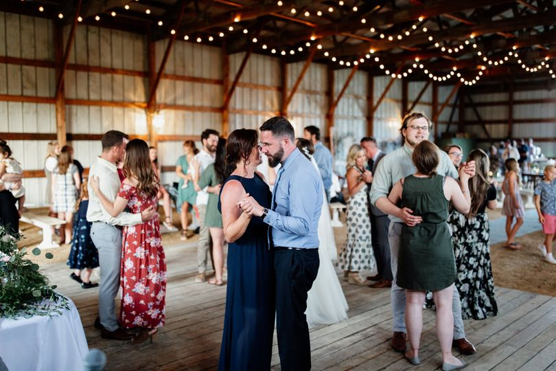 Intimate country wedding