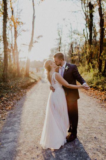 Romantic fall wedding.