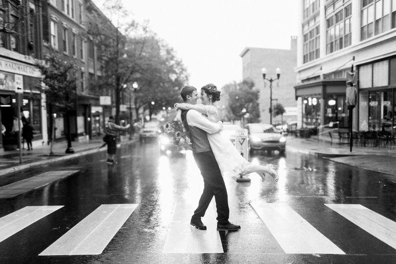 Rainy lancaster wedding.