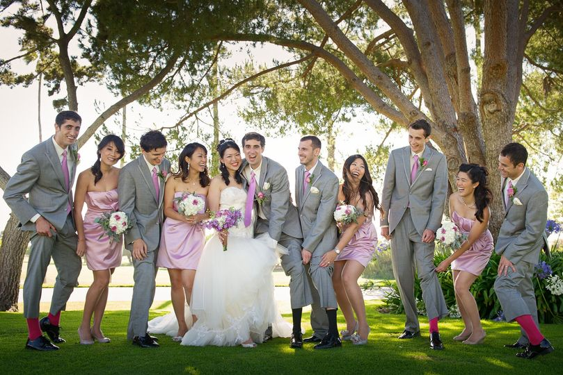 palos verdes golf course los angeles wedding photo