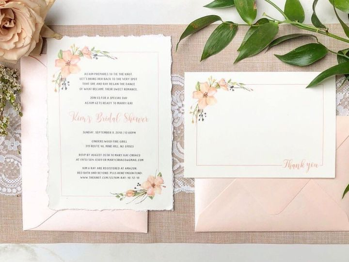 Tmx Bridal Shower Invitation And Thank Uyou 51 919139 157910214775270 Jersey City, NJ wedding invitation