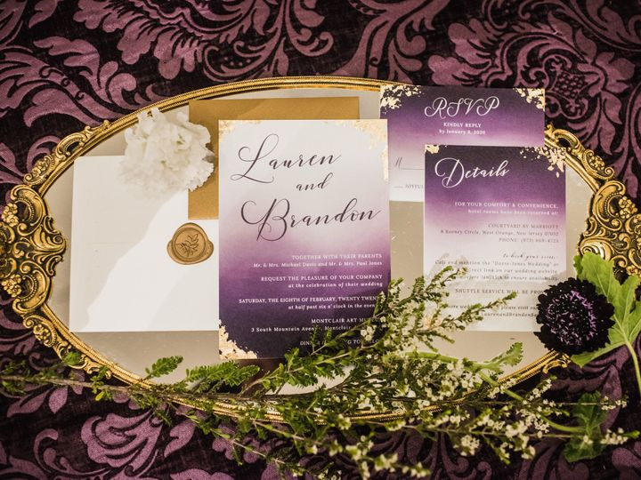 Tmx Custom Wedding Invitation Suite Gold Foil 51 919139 Jersey City, NJ wedding invitation