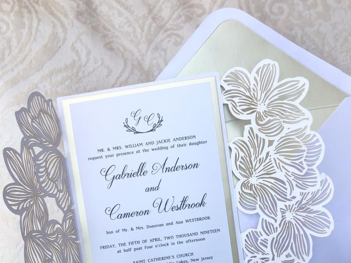 Tmx Elegant Laser Cut Gatefold Wedding Invitations Monogram 51 919139 157910217176242 Jersey City, NJ wedding invitation