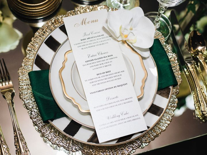 Tmx Gold Foil Menu Card 51 919139 Jersey City, NJ wedding invitation