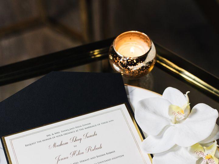 Tmx Gold Foil Pocket Invitation Full Suite 51 919139 Jersey City, NJ wedding invitation
