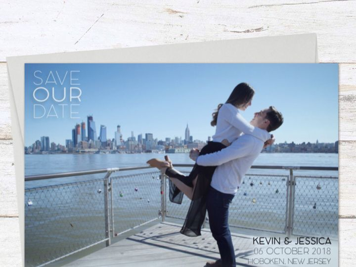 Tmx Hoboken Waterfront Engagement Photos Save The Date 51 919139 157910216555298 Jersey City, NJ wedding invitation