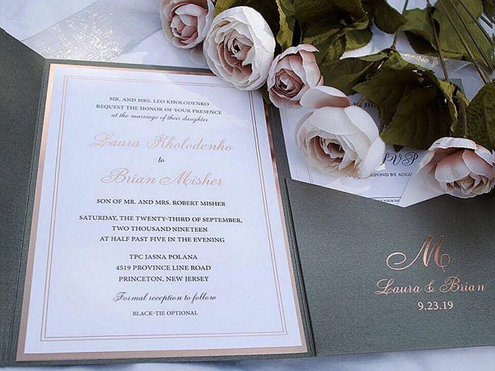 Tmx Mrd Custom Wedding Invitations Rose Gold Foil And Gray Foil Monogram 51 919139 159104067841567 Jersey City, NJ wedding invitation