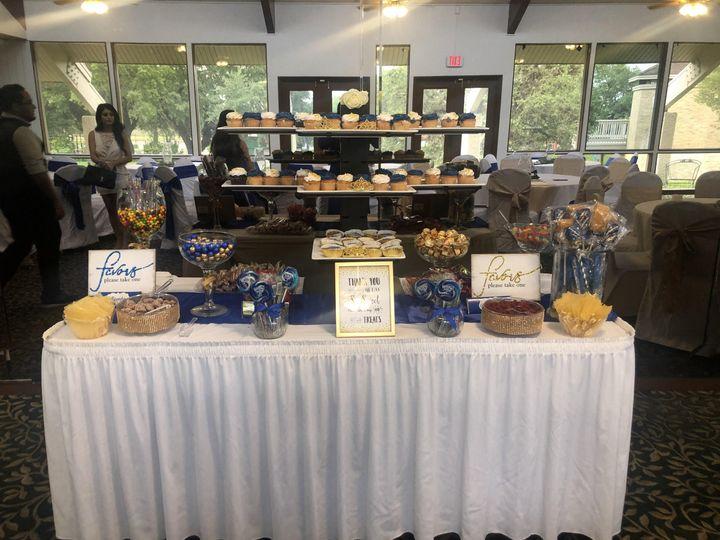 Ballroom dessert table