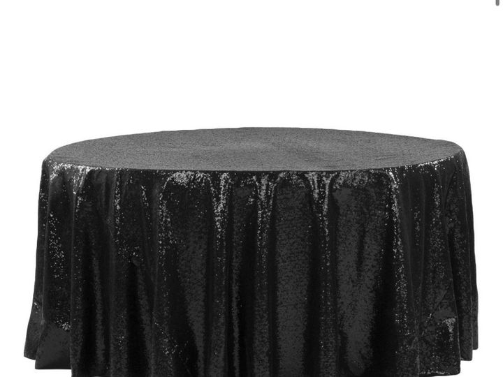 Tmx Black Glitter Table Cover 51 1899139 157592133965306 Raleigh, NC wedding rental