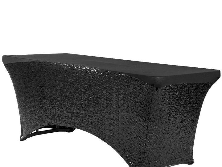Tmx Black Spandex Glitter Table Cover 51 1899139 157592133867154 Raleigh, NC wedding rental