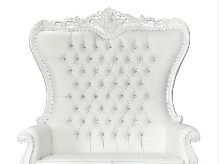 Tmx White Throne Loveseat 51 1899139 157592131059162 Raleigh, NC wedding rental