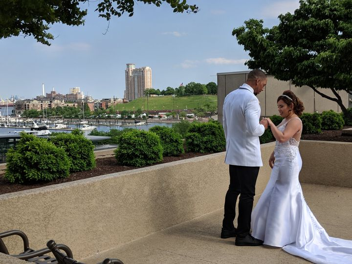 Tmx Pool Overlooking Harbor 1st Look 51 10239 Baltimore, MD wedding venue