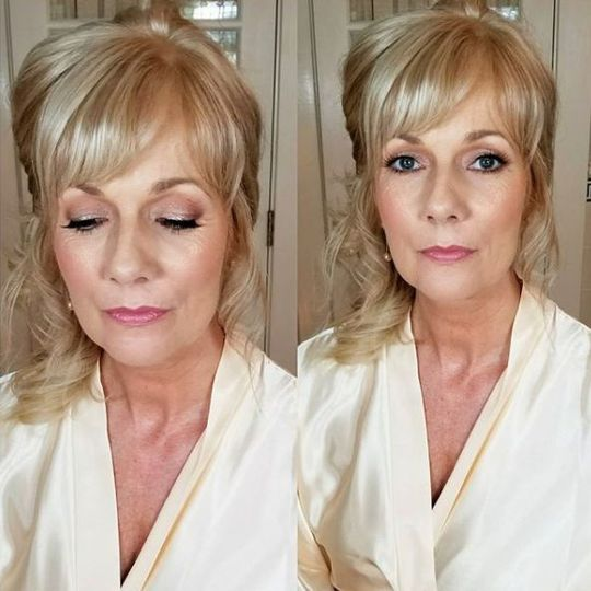 Perfectly blended eye shadow