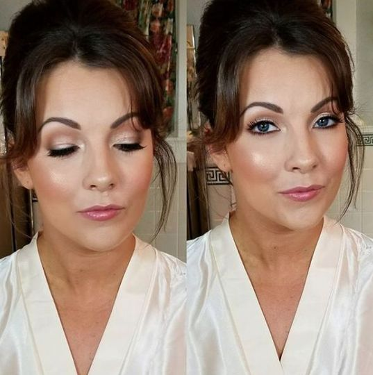 Expertly applied makeup