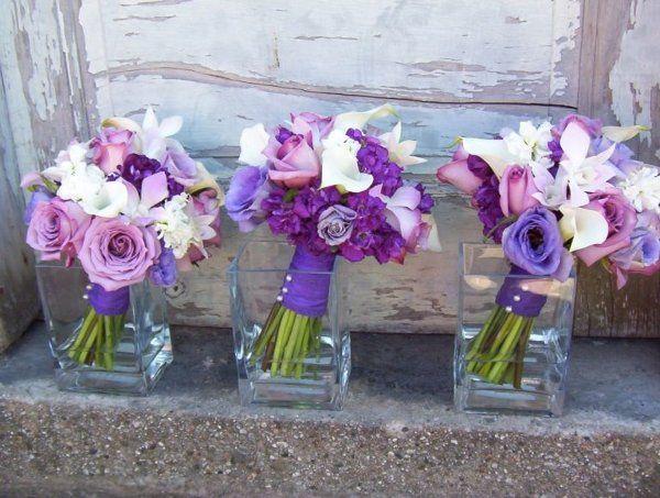 purplerose 2Ccallas 2Clisianthus 26orchidbouquet
