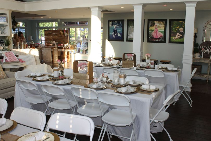Dinnerware, Glassware, Silverware, Chargers, Tables, Chairs and Linen Rentals available
