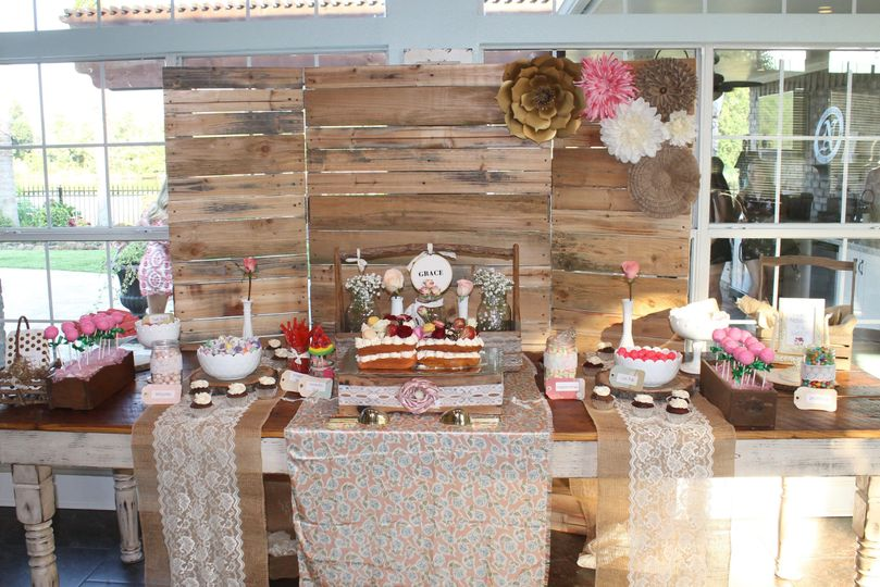 Custom Sweet Stations and Backdrops