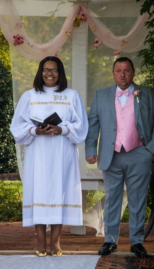 Groom first look of bride