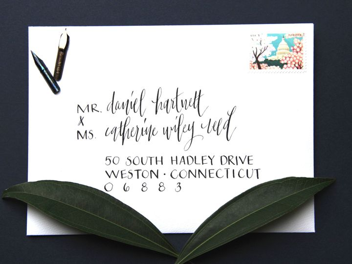 Tmx 1449409910381 Hartnett Envelope Mendham, New Jersey wedding invitation