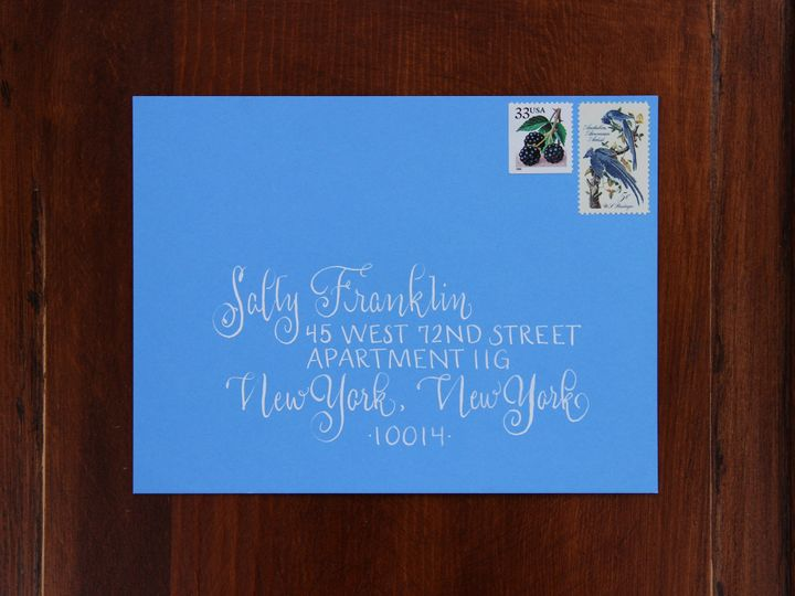 Tmx 1463394464065 Sally Franklin Envelope Mendham, New Jersey wedding invitation