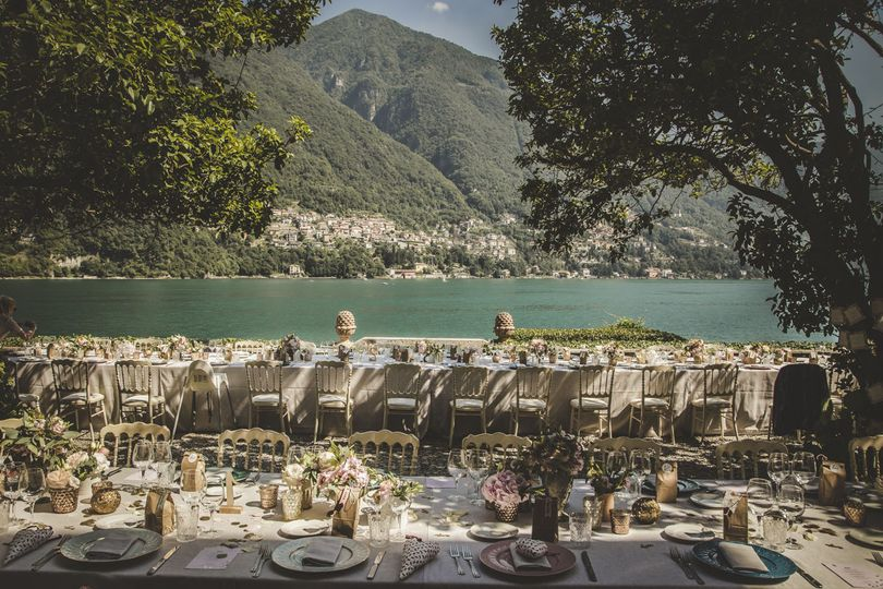 Dining with a waterfront view