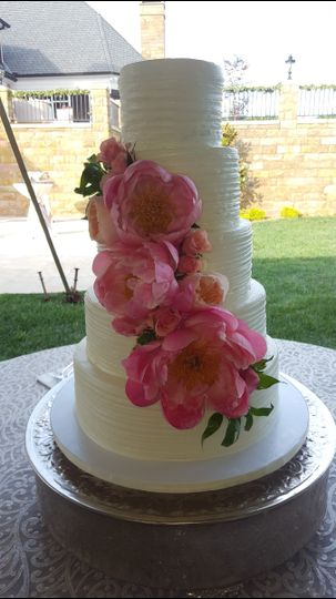 Five tier floral cake
