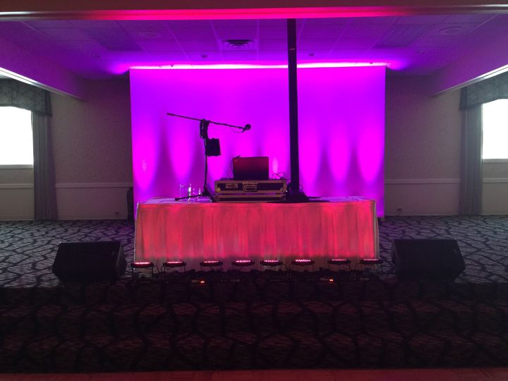 Another special request for front and back up lighting with multi colored images and shadowing to...