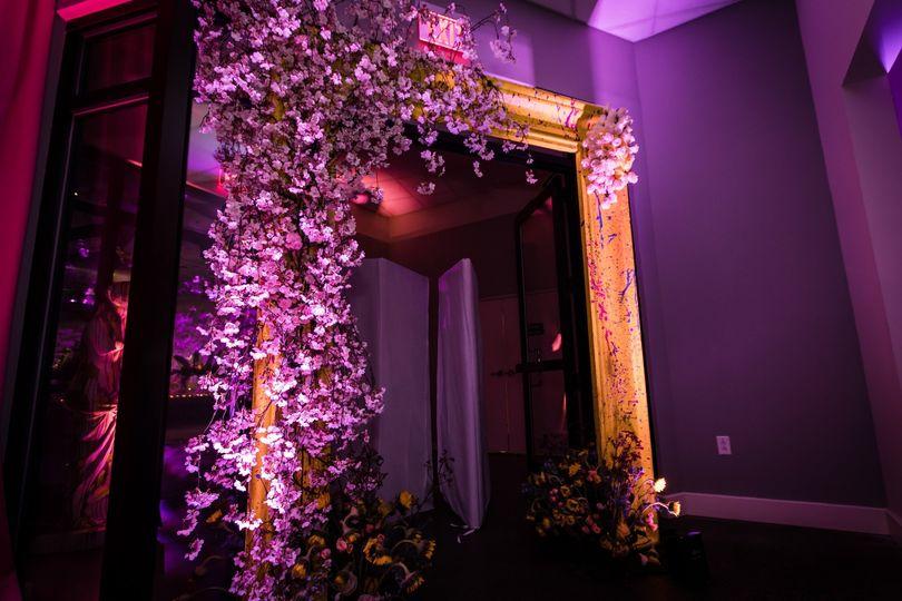Cherry Blossom frame entrance
