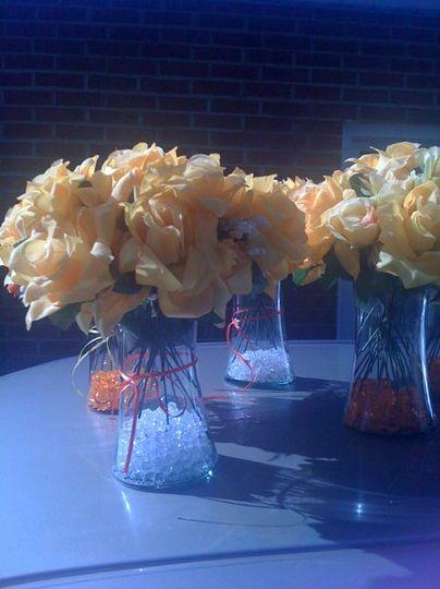 Orange and Yellow Flowers.