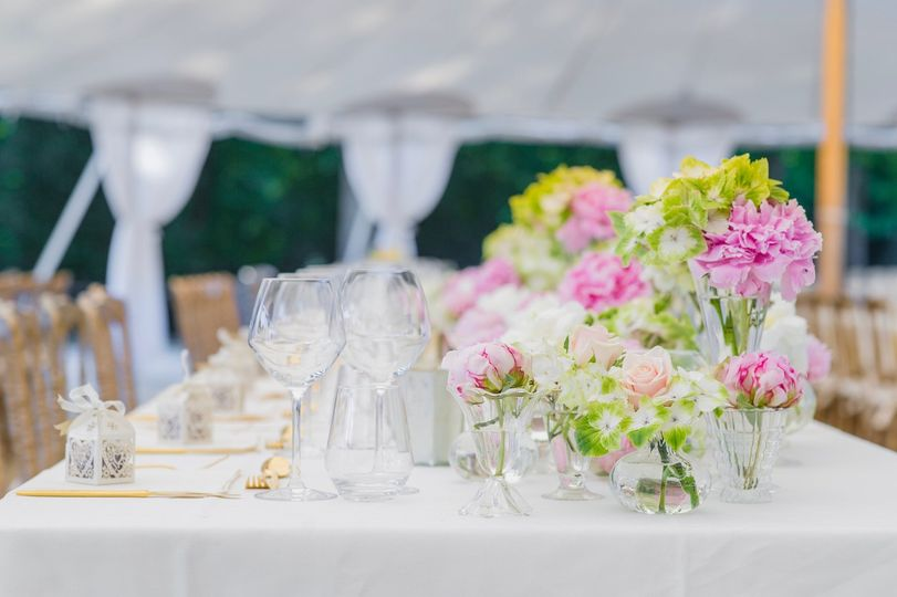Florals and glassware