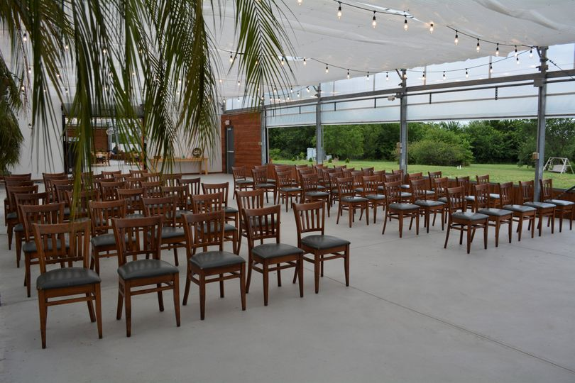 Wooden chairs provided