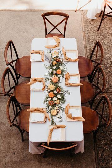 Boho Fall reception table
