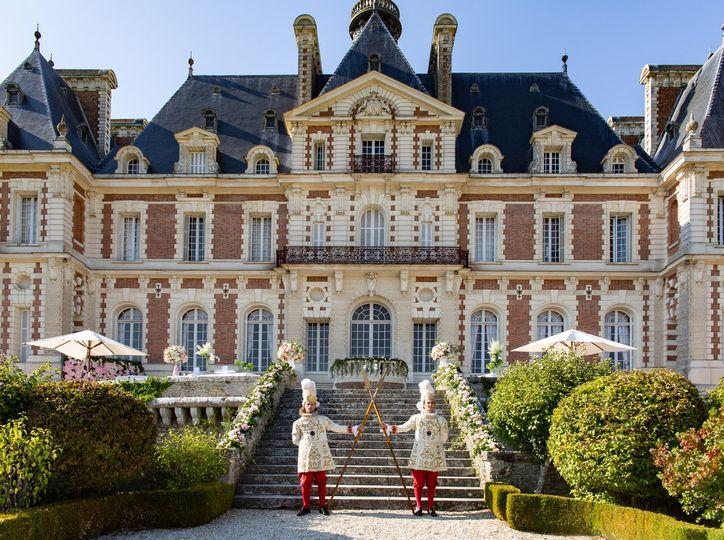 Castle wedding in paris