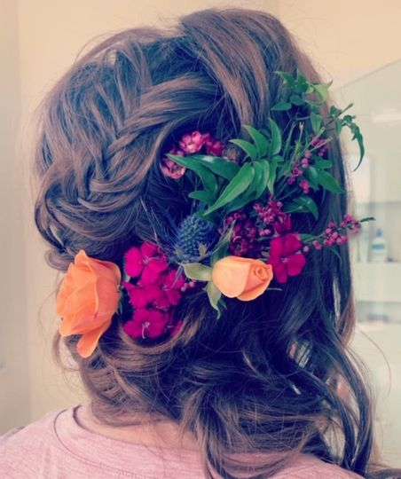 Fresh flower up-do by Victoria