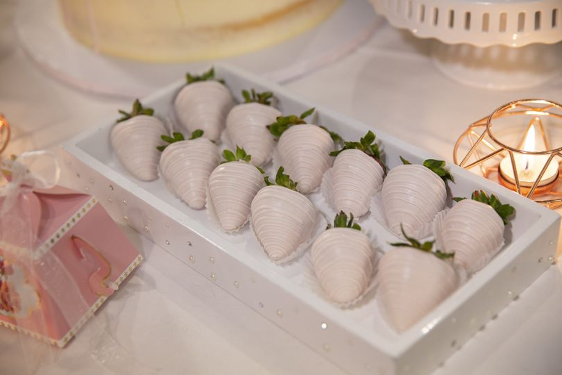 White chocolate covered strawberries