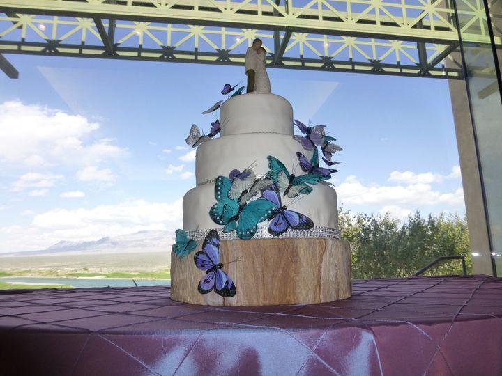butterfly wedding cak