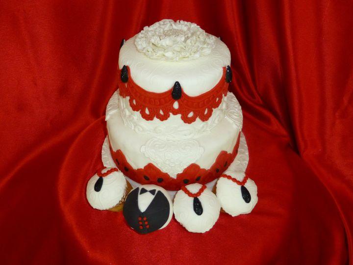 red black wedding