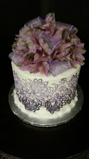 Purple Ombrea Cake