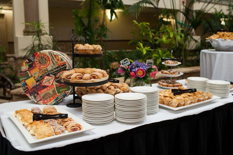 Event buffet setup