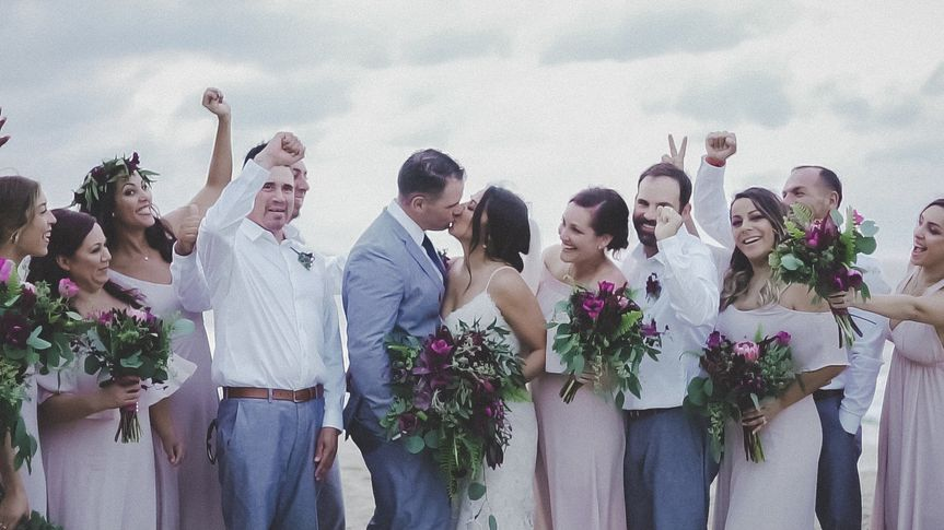 Happiness for the wedding couple